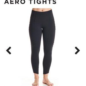 Oiselle Aero Black Tights size 4